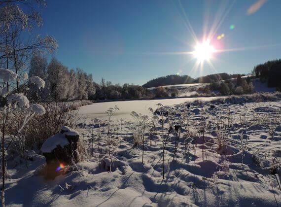 dovolená v zimě v našem pensionu