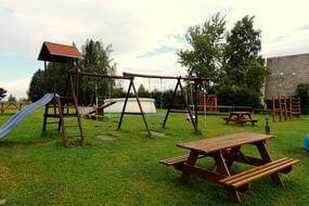 dětské hřiště pensionu Svatý Florian