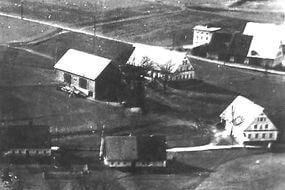 stavení nynějšího pensionu St. Florian v roce 1932